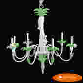 Palm Tree with Monkey Chandelier