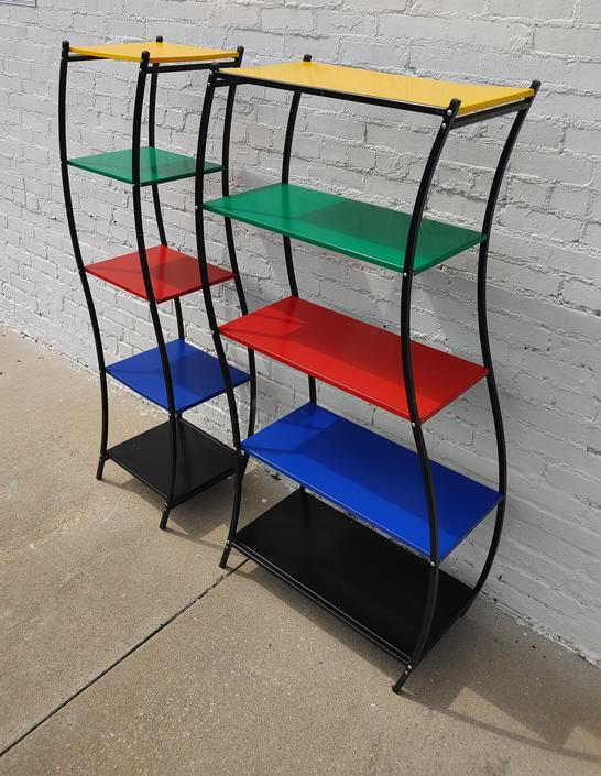 Modern Danish Multi Colored Metal Racks by VintageVaultTulsa