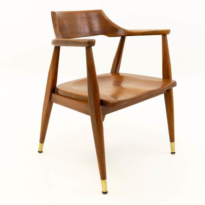 Paoli Mid Century Modern Walnut Desk Chair
