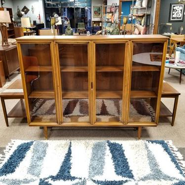 Mid-Century Modern glass front cabinet