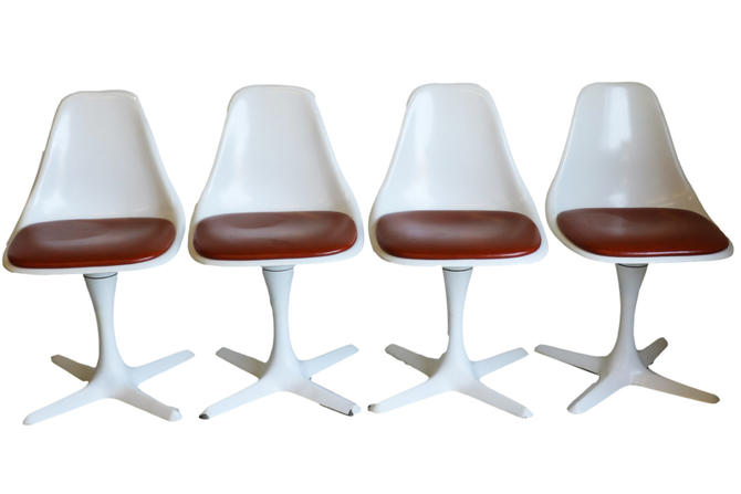 Set of Four Mid-Century Modern Tulip Chairs by Burke by Marykaysfurniture