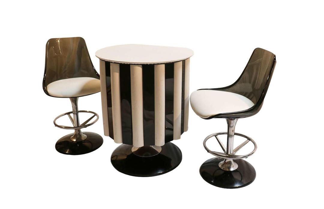 Mid century modern chromcraft bar set table chairs stools for Craft restaurant century city