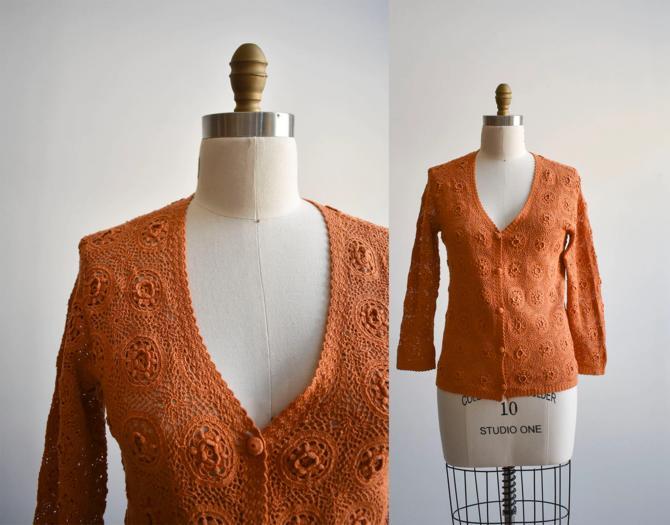 Vintage Crochet Cardigan by milkandice