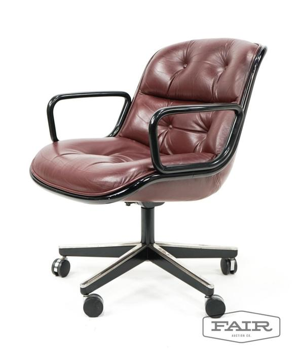 Charles Pollock for Knoll Oxblood Office Chair