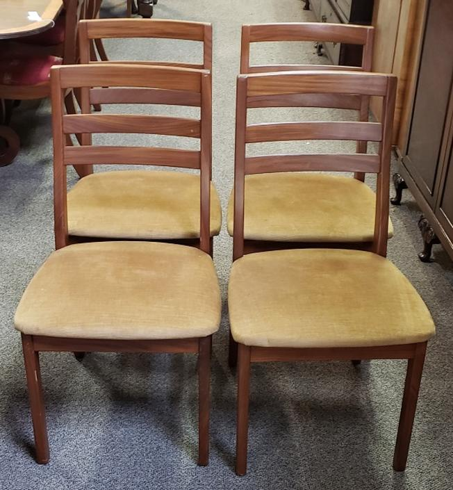 Item #S9 Set of Four Vintage Mid Century Dining Chairs by Nathan c.1960