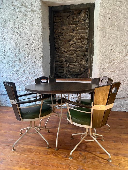 Mid century dining set mid century patio set mid century modern kitchen table chairs by VintaDelphia