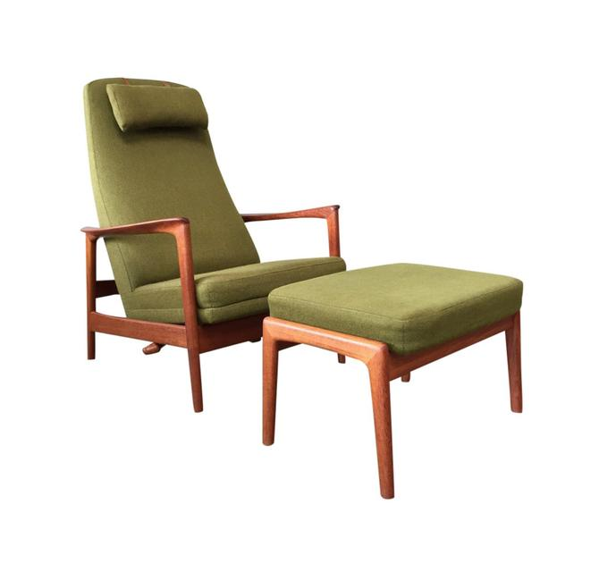 Folke Ohlsson Lounge Chair & Ottoman for DUX  - Sweden 1960's by TheModernFind
