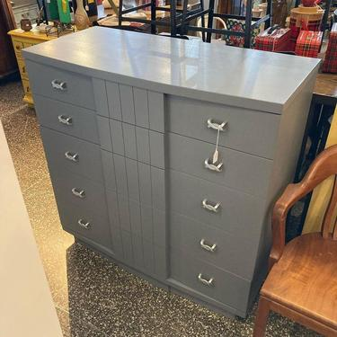 """Gray painted mid century chest of drawers. J.B VanSciver Co. 42"""" x 19"""" x 42"""""""