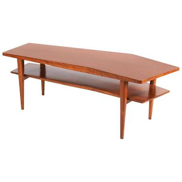Walnut Coffee Table in the style of Bertha Schaefer for Singer & Sons, 1950