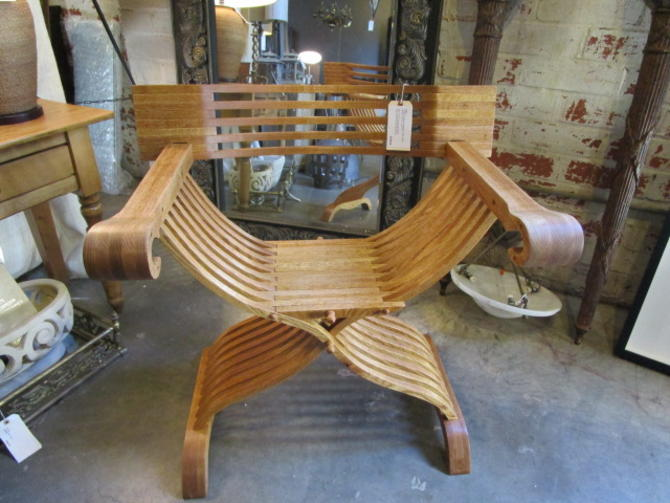 CUSTOM HAND CRAFTED FOLDING CAMPAIGN CHAIR