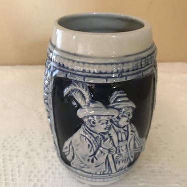 Vintage German, cobalt blue and grey salt glaze stoneware  Mug- Beer Stein by JoAnntiques