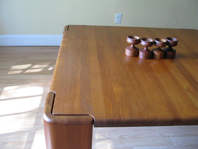 Massive Danish Modern square solid teak coffee table by ASISisNOTgoodENOUGH