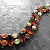 Regency Root Beer Aurora Rhinestone Bracelet by LegendaryBeast