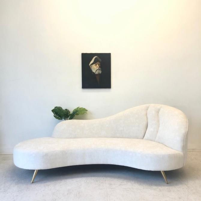 Vintage Biomorphic Sofa With New Upholstery