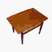 Grete Jalk Teak End / Accent Tables w/ Raised Lip Top