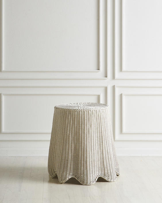 "Trompe'Loeil Wicker ""Ghost"" Accent Table"