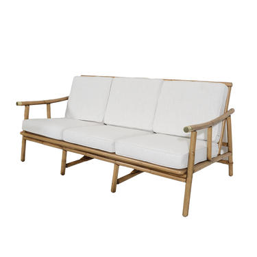 Ficks Reed Sofa Bamboo and Rattan designed by John Wisner Mid Century Modern  by HearthsideHome. Rattan from furniture stores in Washington DC  Baltimore  Virginia
