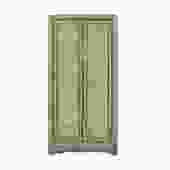 Oriental Distressed Light Mint Emerald Green Slim Storage Cabinet cs5421S