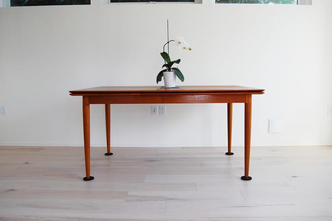 Danish Modern Moreddi Teak Dining Table with Draw-leaf Extensions Skovmand & Andersen by MidCentury55