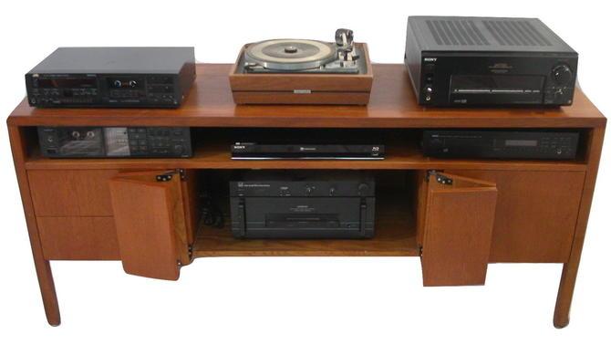 Danish Modern Audio Storage Credenza by HeliKon (Herman Miller) Knoll QUALITY