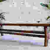 """Midcentury Modern Bench, Modern Bench, Walnut Bench, Dining table bench, Entryway bench, Bench, """"The Continental by moderncre8ve"""