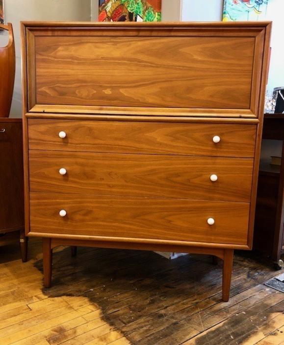 Mid Century Modern Rare Gentleman's Chest/Dresser by Kipp Stewart for Drexel Declaration-1960