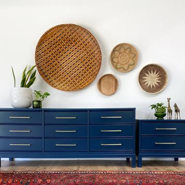 AVAILABLE - Dixie Navy Blue Dresser and Nighstand Set by JulieSimpleRedesign