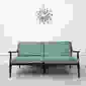 Vintage Danish Love Seat - Original Fabric