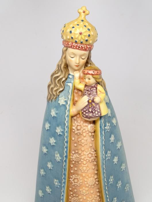 Vintage German Hummel Supreme Protection 364 25th Anniversary TMK 6, Holy Mother Madonna with Baby Jesus, West Germany by exploremag