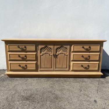 Vintage Thomasville Dresser Buffet Console Cabinet Wood Moroccan Glam Bohemian Boho Hollywood Regency Bedroom Storage CUSTOM PAINT AVAIL by DejaVuDecors
