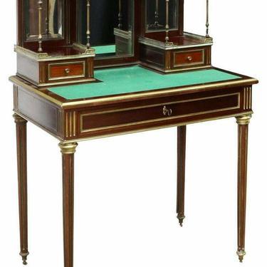 Antique Desk, Lady's, French Louis XVI Style Mahogany Bonheur Du Jour, 1800's!!