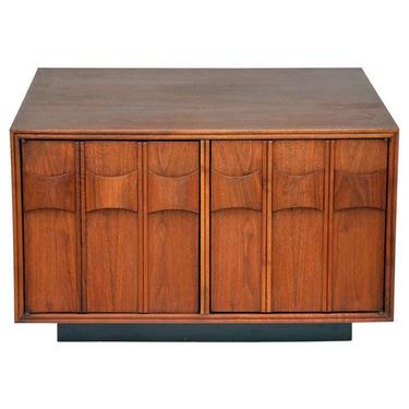 Rare Carved Walnut Cabinet by Brown Saltman