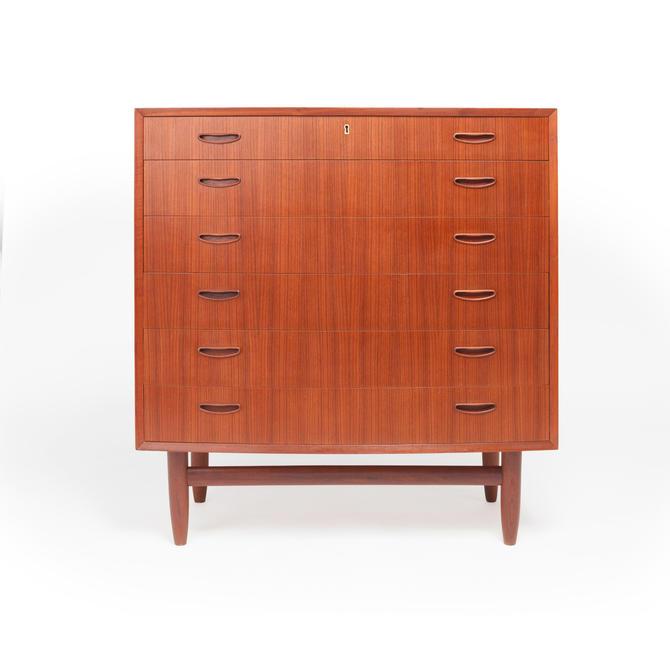 Danish Mid-Century Six Drawer Teak Highboy Dresser 1960s by MCMSanFrancisco