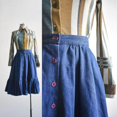 1970s Denim Prairie Skirt by milkandice