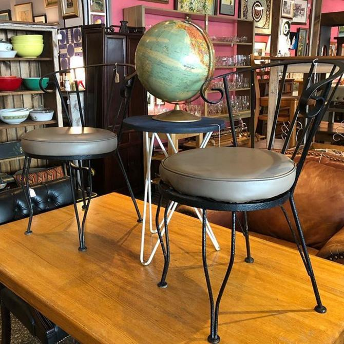 Outdoor chairs $55 each! Accent table $55! Globe $30!