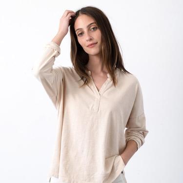 Long Sleeve Henley Top (multiple colors)