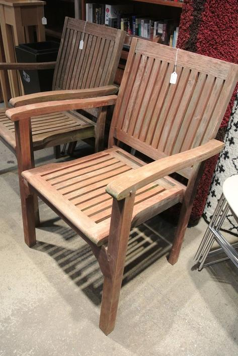 Teak patio chairs. $75/each