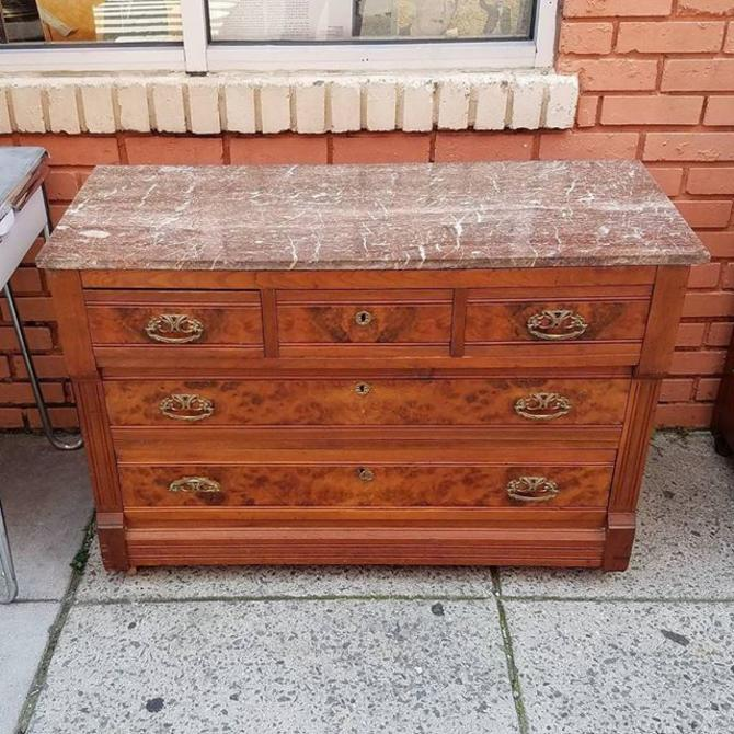 Marble Topped Victorian Dresser, $285