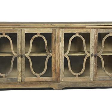 Reclaimed Elm Glass Cabinet from Terra Nova Designs Los Angeles by TerraNovaLA