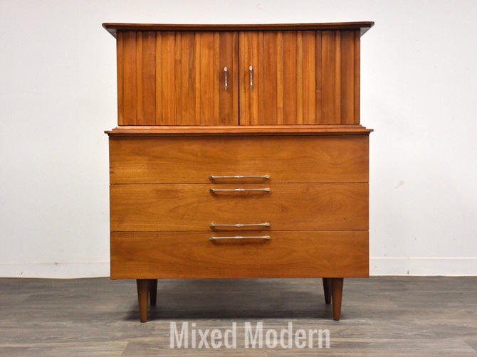 Walnut Mid Century Dresser by Young Manufacturing by mixedmodern1