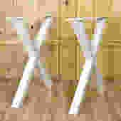 Pair of X Legs, Steel Table Legs by PfunderMetalwerks