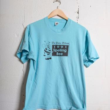 Vintage 90s The Tulsa Tribune Spelling Bee t-shirt. Super soft. L 1528 by TCWOnline