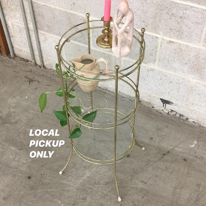 LOCAL PICKUP ONLY ———— Vintage Tiered Table by RetrospectVintage215