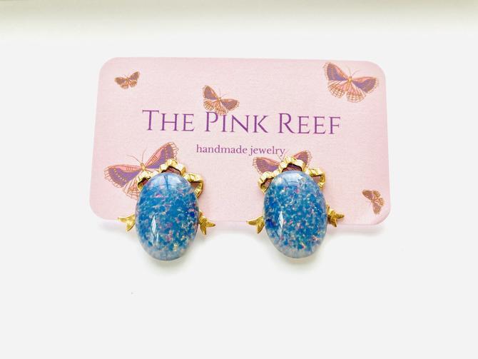 FLASH SALE *last one* blue opal stud