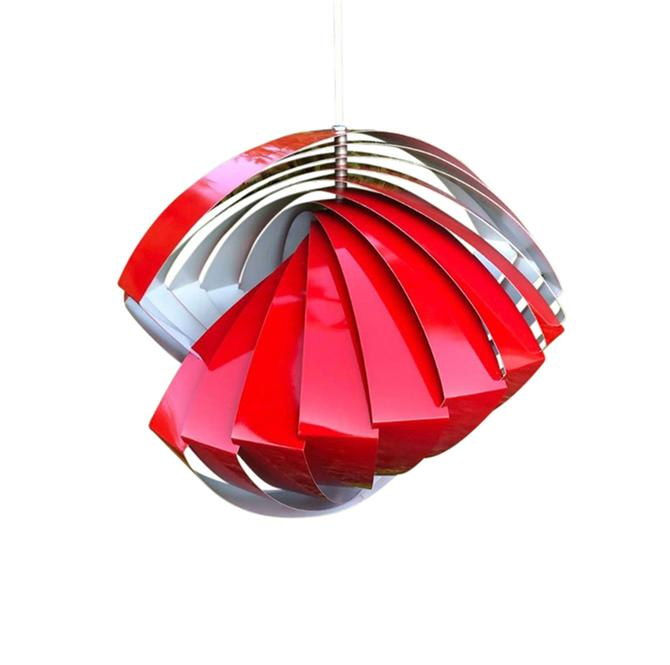 Vintage Konkylie Model P483 Golden Pendant Lamp by Louis Weisdorf for Lyfa by MCMSanFrancisco