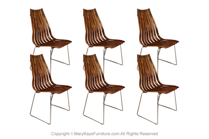 "Norwegian Modern Hans Brattrud ""Scandia"" Rosewood Dining Chairs by Marykaysfurniture"