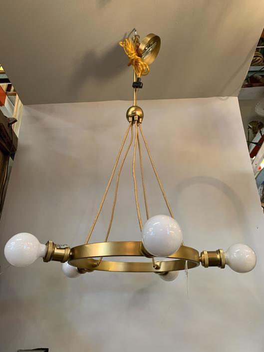 Modern gold chandelier 19Dia x 39H