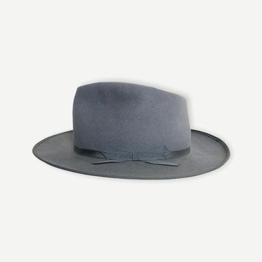 Vintage 1940s WESTCHESTER DELUXE Fedora ~ size 7 1/2 ~ Hat ~ Stratoliner / Open Road ~ Western ~ Thin Ribbon / Bound Edge ~ Fur Felt by SparrowsAndWolves