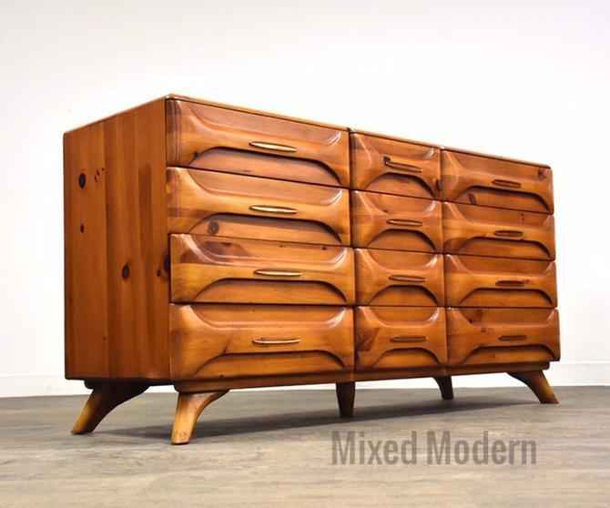 Franklin Shockey Sculptured Pine Dresser by mixedmodern1