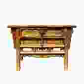 Chinese Vintage Drawer Raw Wood Rustic Side Table Cabinet cs5747S
